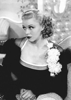 Todays vintage hair & make up inspiration from Ginger Rogers.