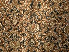 brown silk brocade fabric - Google Search
