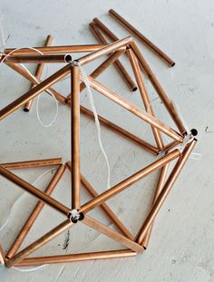 Creating a Himmeli Base of Copper Pipe for a DIY Side Table