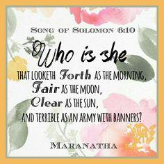 Song of Solomon 6:4-13 (KJV)    #MARANATHA