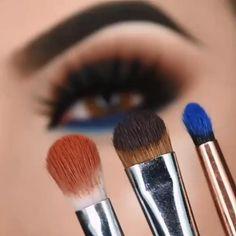 Smoke Eye Makeup, Eye Makeup Steps, Makeup Eye Looks, Beautiful Eye Makeup, Eye Makeup Art, Eyeshadow Makeup, Brushes For Eyeshadow, Easy Eye Makeup, Matte Eye Makeup