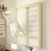 Beadboard Drying Rack w/ Hanger Rail - @ Ballard Designs, $219; look into DIY possibilities