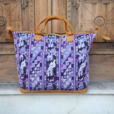 Our Exotic Purple Peacock Weekender is outstanding with the variety of purple tones on one single bag holds. Handmade to make a durable and perfect bag!