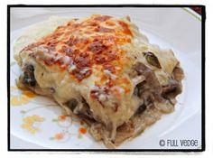 Lasagne crémeuse aux champignons portobello et aux poireaux | Full vedge - Recettes végétariennes et gourmandes!