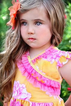 Thinking that my granddaughter, Lila Grace, will look like this beautiful little girl in a few year.