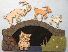 New Handmade Felt Flannel Board Story Three Billy Goats Gruff Teacher Resource | eBay