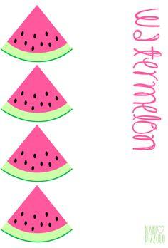 watermelon, melancia,  summer time, fruits, frutas ,fofurices, printables @ Nani Pizzolo