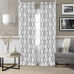 Valdovinos Geometric Room Darkening Grommet Single Curtain Panel & Reviews | AllModern