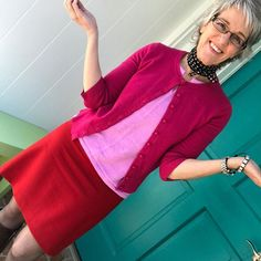 Yes, pink and red are a thing. Although I'd rather not be sharing the creases from sitting at my computer... But this is my real world, not polished, not perfect!  #closetplayimage #styleaugustaga #iwillwearwhatilike #reallifestyle #instadaily #pic #snap #picoftheday #fashion #ootd #cute #stylish #stylist #beautiful #love #follow #creative #fashionblogger #blog #style #outfit #styleblogger  #styleisnotfashion  #lovecolor #bevibrant #pink #red #whatiworetoday #realworldstyle #onrepeat  #Reg