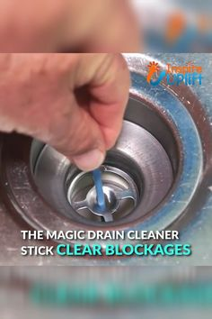 Drop a Magic Drain Cleaner Stick down your drain once a month to safely and effectively clear blockages and kill bad odors at their source. Made of powerful enzymes, the stick rests in the drain and s Household Cleaning Tips, House Cleaning Tips, Diy Cleaning Products, Cleaning Solutions, Cleaning Hacks, Cleaning Supplies, Drain Cleaner, Clean House, Helpful Hints