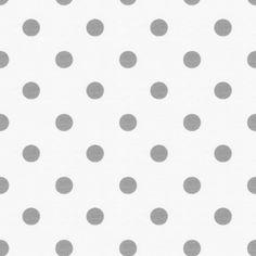 gray and white polka dot mini crib sheet / $29