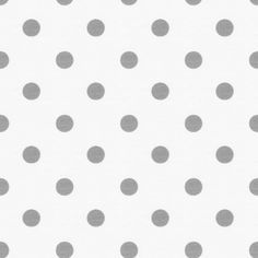 White and Gray Polka Dot Fabric ~ warm silver gray on antique white background drapery weight cotton twill.