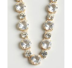 R.J. Graziano gold and large crystal chain necklace