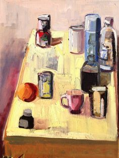 John Bokor. the yellow tablecloth