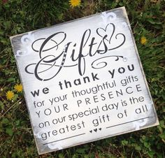 Thank You Sign For Wedding Gift Table : Romantic Wedding Signs, Wedding Cards and Gifts Sign, Gift Table Sign ...