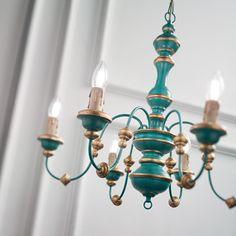 Πολυέλαιος σε μπλε & χρυσό χρώμα PISA SP6 IDEAL LUX Unique Lighting, Pendant Lighting, Pisa, Colour Consultant, Gold Chandelier, Blue Gold, Vintage Looks, Color Pop, Ceiling Lights