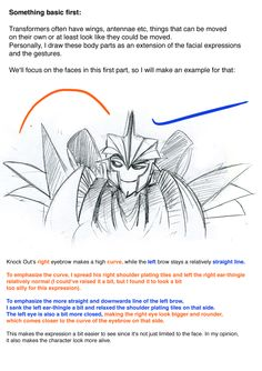 Herzspalter's facial expressions tutorial