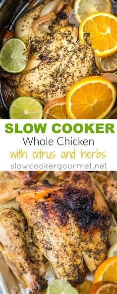 Learning how to roast a slow cooker whole chicken will save you time and money every week and provide delicious meals for days. This process is so quick and easy and very healthy too! Slow Cooker Roast, Slow Cooked Meals, Best Slow Cooker, Slow Cooker Recipes, Crockpot Recipes, Slow Cooking, Crockpot Dishes, Pressure Cooking, Slow Cooker Chicken Whole