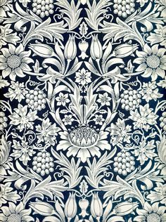 Sunflower wallpaper by William Morris
