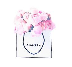 Items similar to Art Print from Watercolor Painting, Chanel Shopping Bag of Pink Peonies Flowers, Fashion Illustration, Poster Wall Home Decor on Etsy Paper Wall Art, Pink Wall Art, Peony Flower, Flower Wall, Pink Home Decor, Fashion Painting, Pink Walls, Pink Peonies, Beautiful Paintings