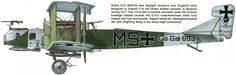 Gotha G.IV Unit: KAGOHL 3 Serial: MS (Go.G.IV.603/16) This Gotha G.IV (603/16) flew daylight missions over England while assigned to Kagohl ...