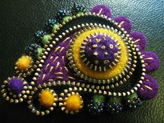 The finished paisley brooch by woolly  fabulous, via Flickr