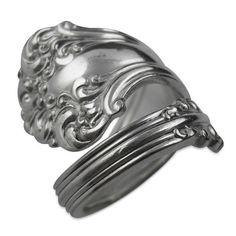 Antique Silver Spoon Ring - Avon - Recycled Eco-Friendly Silverware Jewelry