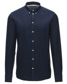 Mega fede Minimum langærmet skjorte Minimum Skjorter til Herrer i behageligt materiale