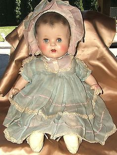 Vintage composition doll, 1930's - 1940's.