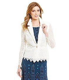 Reba Spring Radiance White Lace Jacket #Dillards
