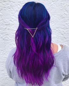 Blau und Lila Haarfarbe Ideen Blue and Purple Hair Color Ideas – Farbige Haare Violet Hair Colors, Cute Hair Colors, Hair Color Purple, Hair Dye Colors, Cool Hair Color, Galaxy Hair Color, Purple Colors, Dyed Hair Purple, Long Purple Hair