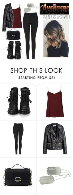"""""""Avengers Infinity War Trailer"""" by feykaze ❤ liked on Polyvore featuring Topshop, H&M and Sole Society"""