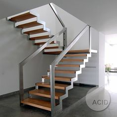 metal wood steel stairs stairporn stairdesign production