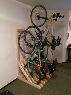 Vertical Bike Rack from 2x4s                                                                                                                                                     More