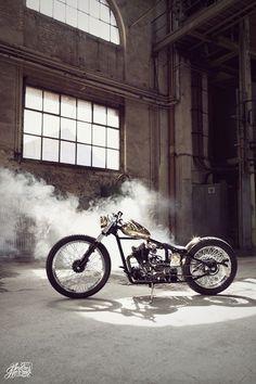 Bobber Inspiration   Brass bike by Sam-customs   Bobbers and Custom Motorcycles