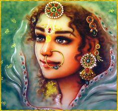 ✨ SHRI RADHA ✨ Artist: Mahendra Dubey http://mahendradubeyartist.com/