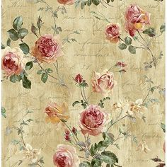 Ophelia & Co. Cheverny Garden L x W Texture Wallpaper Roll Color: Perfect Pink Look Wallpaper, Textured Wallpaper, Wall Wallpaper, Pattern Wallpaper, Shabby Chic Wallpaper, Antique Wallpaper, Wallpaper Borders, Wallpaper Online, Calligraphy Wallpaper