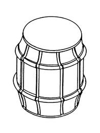 The mark consists of the configuration of a can in the shape of a barrel.