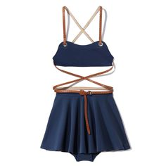 Michael Kors Crêpe Belted Swimsuit