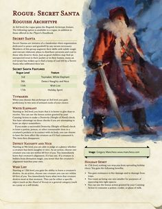 Unearthed Arcana Dungeons And Dragons Rules, Dungeons And Dragons Classes, Dnd Dragons, Dungeons And Dragons Characters, Dungeons And Dragons Homebrew, Dnd Characters, Rogue Archetypes, Dnd Monsters, Cool Monsters