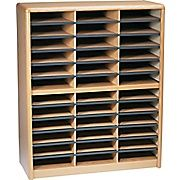 214.00 - top heavy?  Shop Staples® for Safco® Value Sorter Literature Organizer, 36 Compartment, 32 1/4'' x 13 1/2'' x 38'', Medium Oak. Enjoy everyday low prices and get everything you need for a home office or business.
