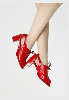 1960s Red Shoes by VeraVague