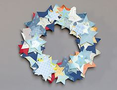 Holiday Card Wreath: now I know what to do with the old greeting cards from last year that I never want to throw out!