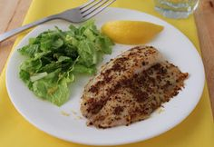 Lemon Pepper Tilapia from Living Low Carb One Day At A Time | Whole30 compliant