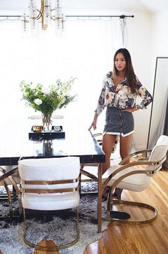 Tour inside fashion blogger Aimee Song's chic L.A. apartment for some interior design inspiration: