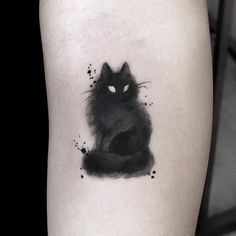 30 charming cat tattoo ideas for cat lovers to try . - 30 charming cat tattoo ideas for cat lovers to try … - Aquarell Tattoos, Kunst Tattoos, Body Art Tattoos, Small Tattoos, Water Color Tattoos, Small Dragon Tattoos, Random Tattoos, Tattoo Girls, Girl Tattoos