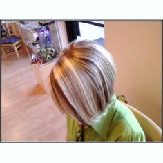 white hair with brown lowlights | cannot wait to see what Lindsey comes up with for her next visit!