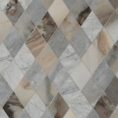 Afyon Grey, Avenza Dark, Palisandra Multi Finish Almas Marble Mosaics 9 5/16×10 1/2