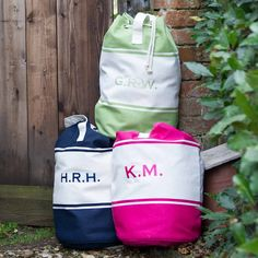 Personalised Canvas Duffle Bag - Available in three colours