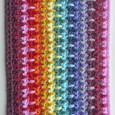 Love how the long treble stitch helps to blend the colours together in this blanket.